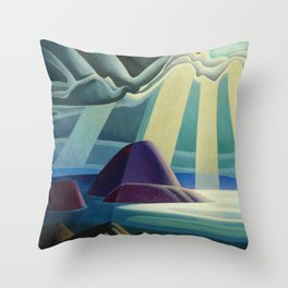 Lake Superior No. I, 1923 maritime seascape painting by Lawren Harris Throw Pillow