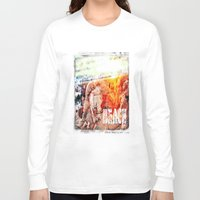 chicago bulls Long Sleeve T-shirts featuring Beach Bulls by Zhineh Cobra
