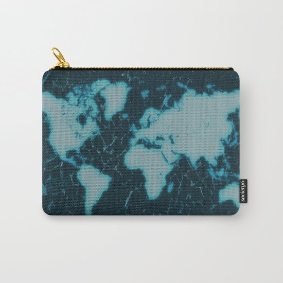 World Map TV Carry-All Pouch
