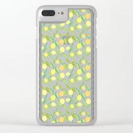 Lemon Twist Clear iPhone Case