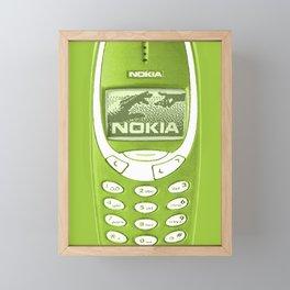OLD NOKIA - Lime Green Version Framed Mini Art Print