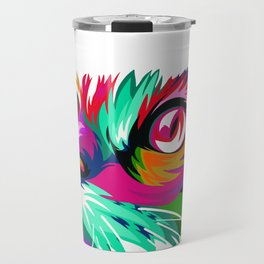 Cute Cat Graphic Colorful Paint Women Tshirt for Cat Lovers Travel Mug
