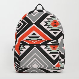 Aztec geometry with diamonds Backpack
