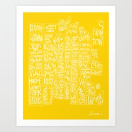 denver neighborhood print [hand drawn] Art Print