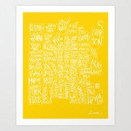 denver neighborhood print [hand drawn] Art Print