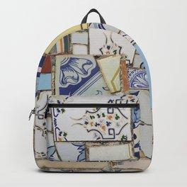 Broken ceramic tiles patchwork Backpack