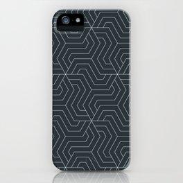 Gunmetal - bllue - Modern Vector Seamless Pattern iPhone Case