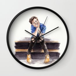 Smiling Harry Styles Wall Clock