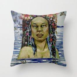 Yemaya, Goddess of the Sea Throw Pillow