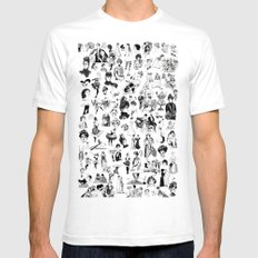 Good Girl Bad Girl White SMALL Mens Fitted Tee