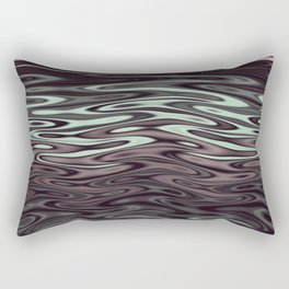 Ripples Fractal in Mint Hot Chocolate Rectangular Pillow