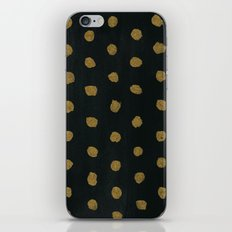 GOLD DOTS iPhone Skin