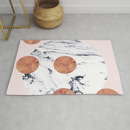 Marble + Pink + Copper #society6 #buyart #decor Rug