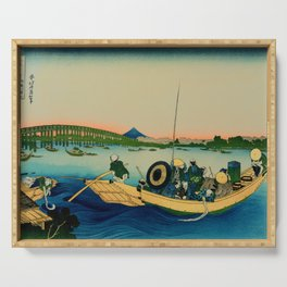 Ryogoku Bridge over the Sumida River Serving Tray