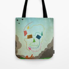 flying skull Tote Bag