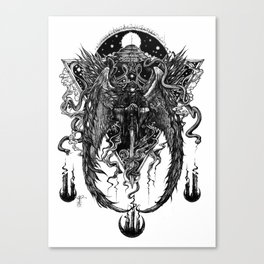 The Bornless One (Black and White)  Canvas Print