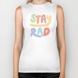 Stay Rad colors Biker Tank
