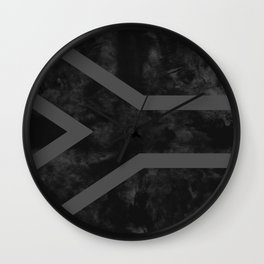 Black South Africa Flag Wall Clock