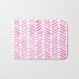 Handpainted Chevron pattern - pink and pink ;) Bath Mat
