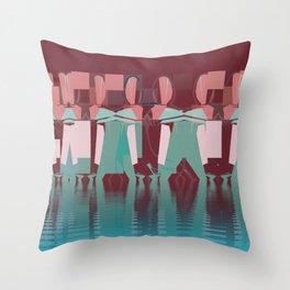 River Dance. Throw Pillow