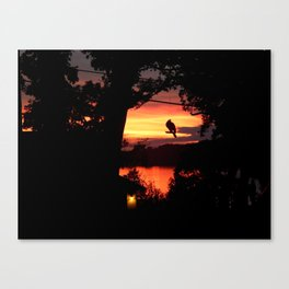 Skies on Fire Canvas Print