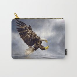 Bald Eagle swooping Carry-All Pouch