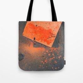 NVSV SPCS_orange concrete Tote Bag