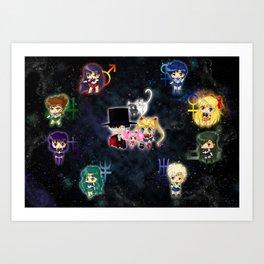 Sailor Moonies Art Print