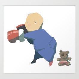 Rompers Boxer Art Print
