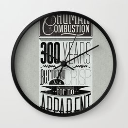 Spontaneous Combustion Wall Clock