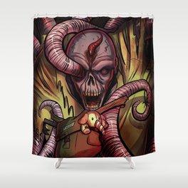 Worm Zombie Shower Curtain