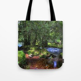Quietly Flows The River Dart Tote Bag