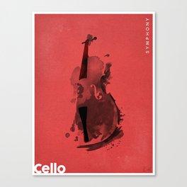 Symphony Series: Cello Canvas Print