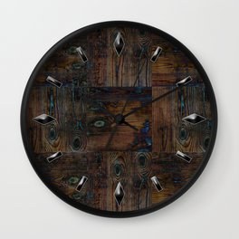 Old boards, old wood, aged wood, wood Wall Clock