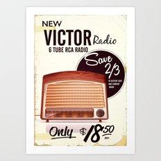 Vintage American radio advert Art Print