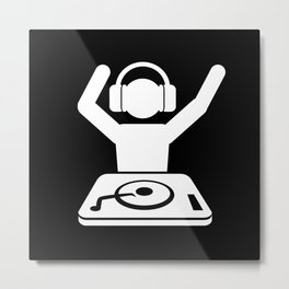 DJ Hands In The Air Metal Print