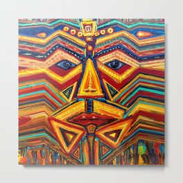 Warrior mask Metal Print