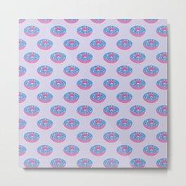 Pastel Doughnut Heaven Pattern  Metal Print
