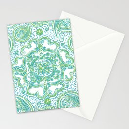 Paisley Mandala - Blue & Green Stationery Cards