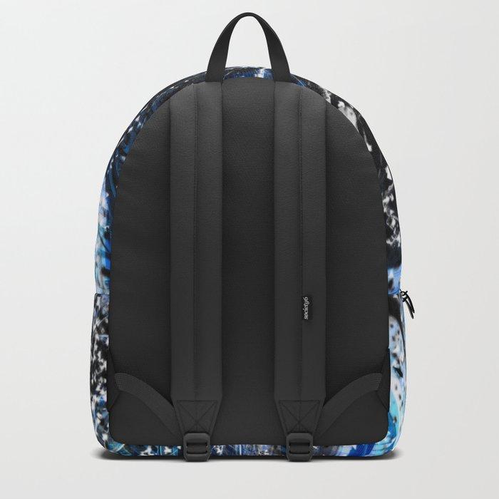 Broken blue by Brian Vegas Backpack
