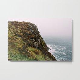 Irish Cliffs Metal Print