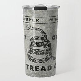 Culpeper Minutemen flag, aged vintage style Travel Mug