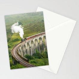 Hogwart Express steam engine in the scottish highlands Stationery Cards