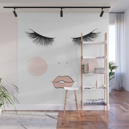 Lashes And Lips Wall Mural