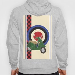 Scooter and mod symbols. Hoody
