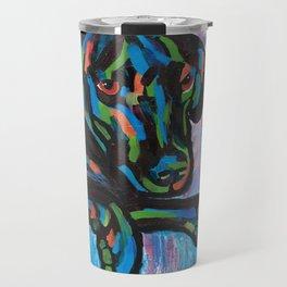Colorful Lab Puppy Travel Mug