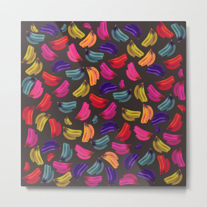 Bananas Coloridas Metal Print