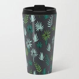 Palm tropical illustration by andrea lauren palm leaves palm trees desert island Travel Mug