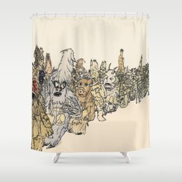 Koukeri (Mummers) Shower Curtain