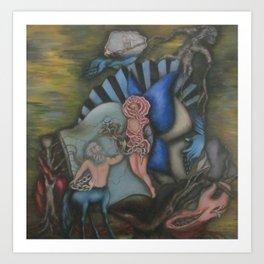 Centaur Rose Art Print